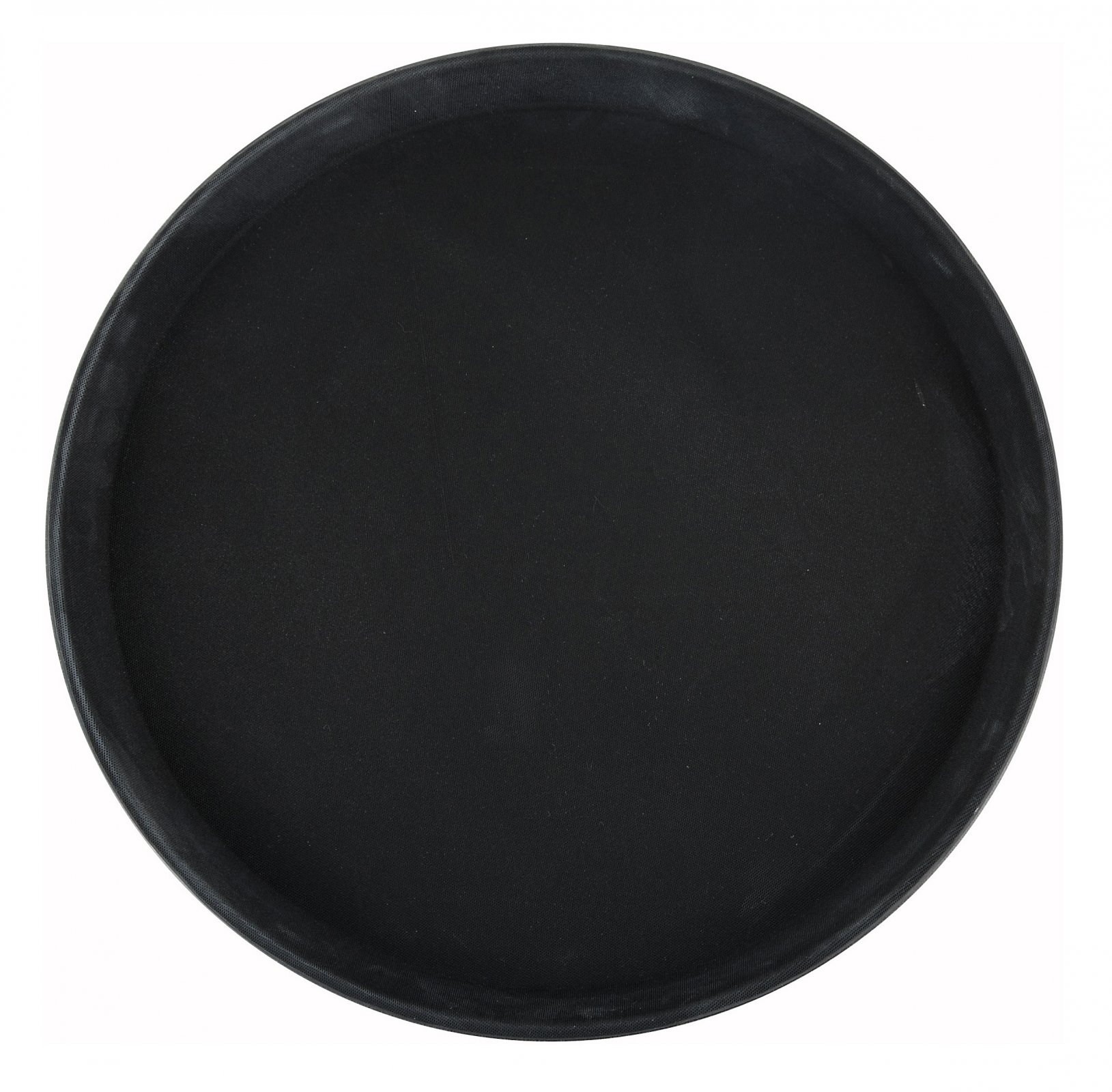 11 Easy Hold Rubber Lined Tray, Black, Round