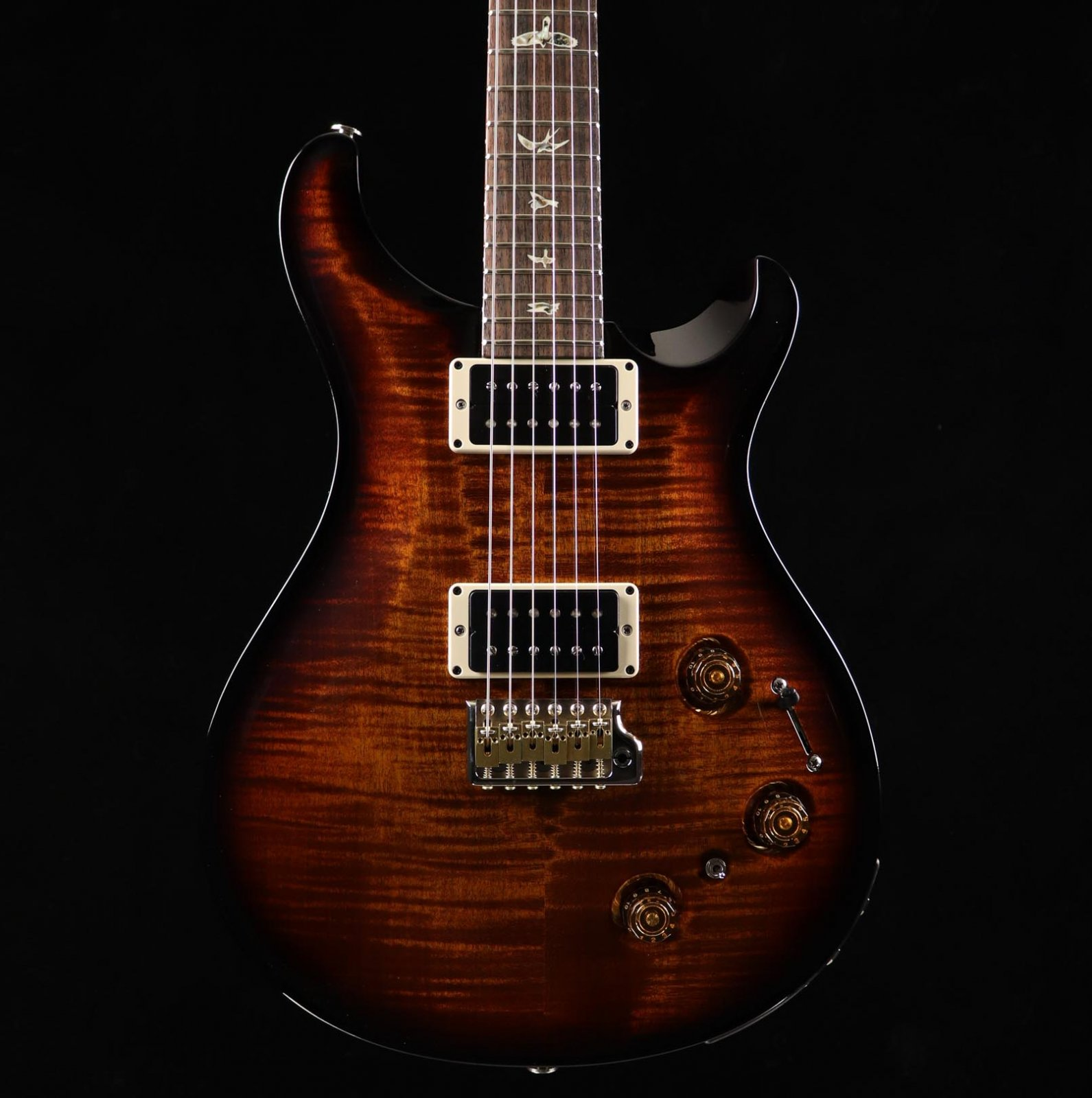 PRS Custom 22 Piezo - Black Gold Wrap Burst
