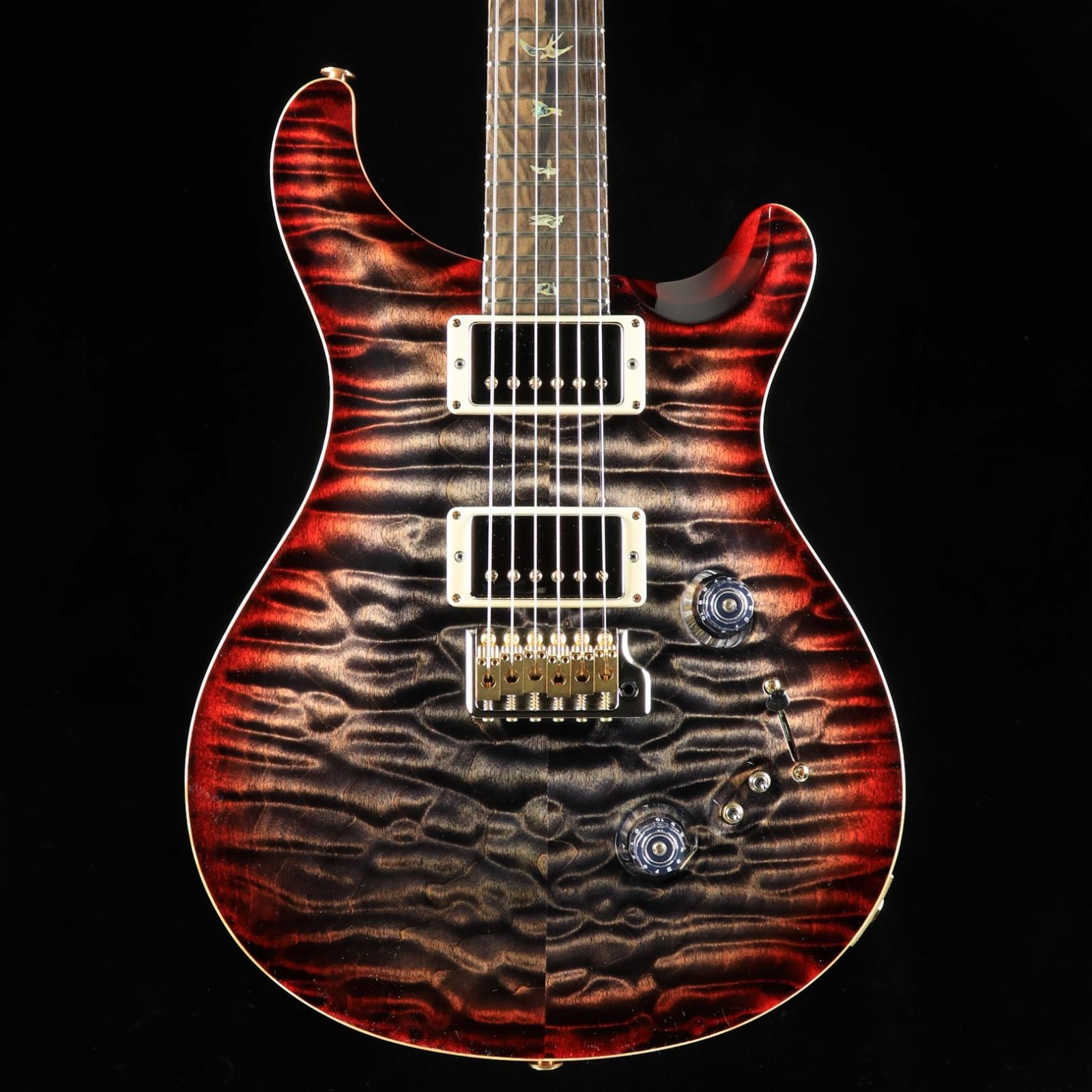 PRS Wood Library Custom 24-08 - Charcoal Cherry Burst