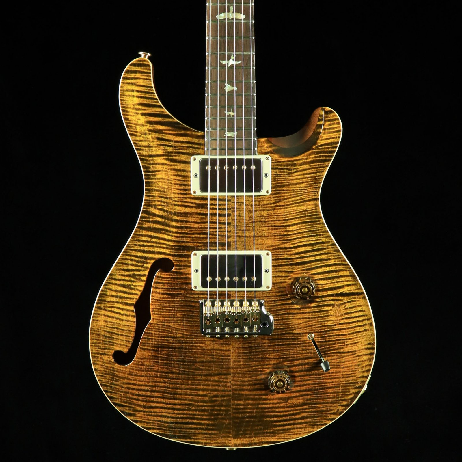 PRS Wood Library Custom 22 Semi-Hollow - Yellow Tiger