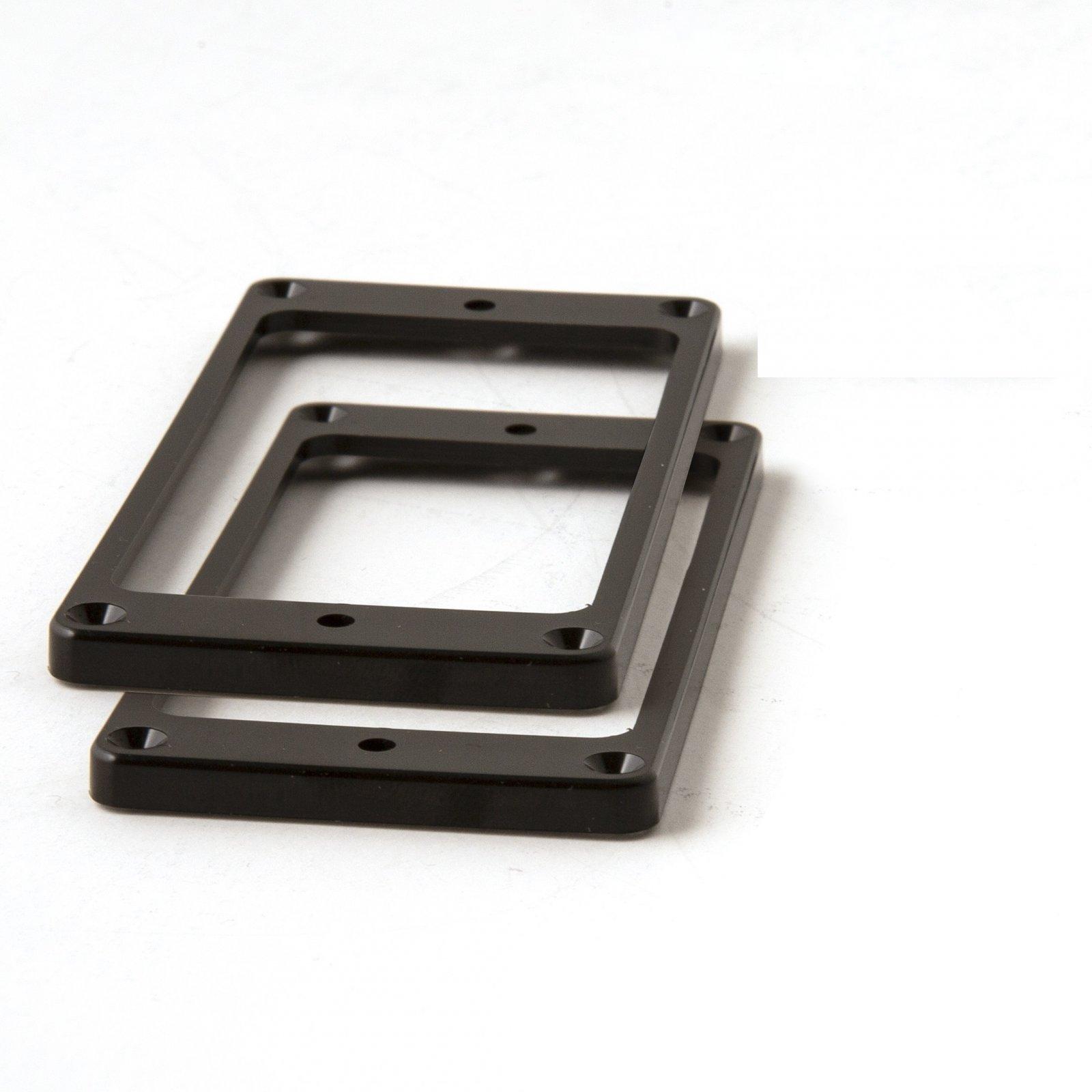 PRS SE Humbucker Pickup Rings (2), Straight, Black (Trem Equipped)