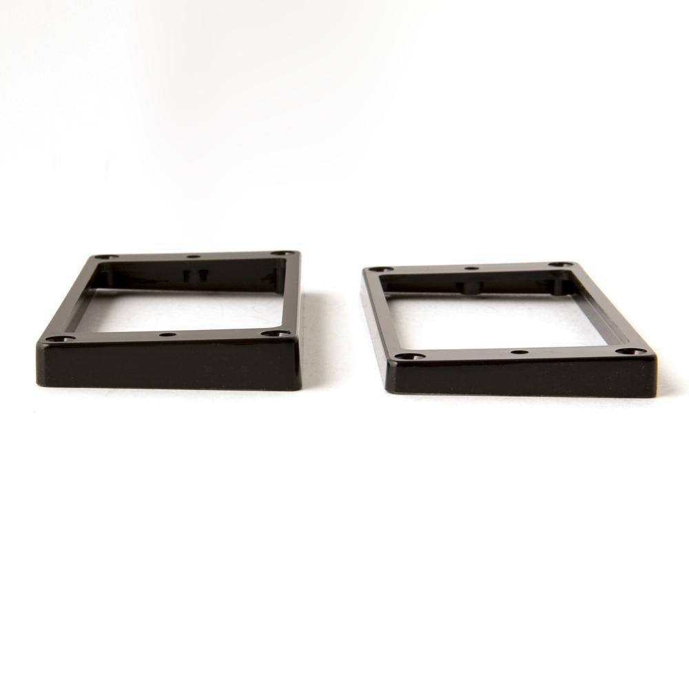 PRS SE Humbucker Pickup Rings (2), Slant, Black (Stoptail Equipped)