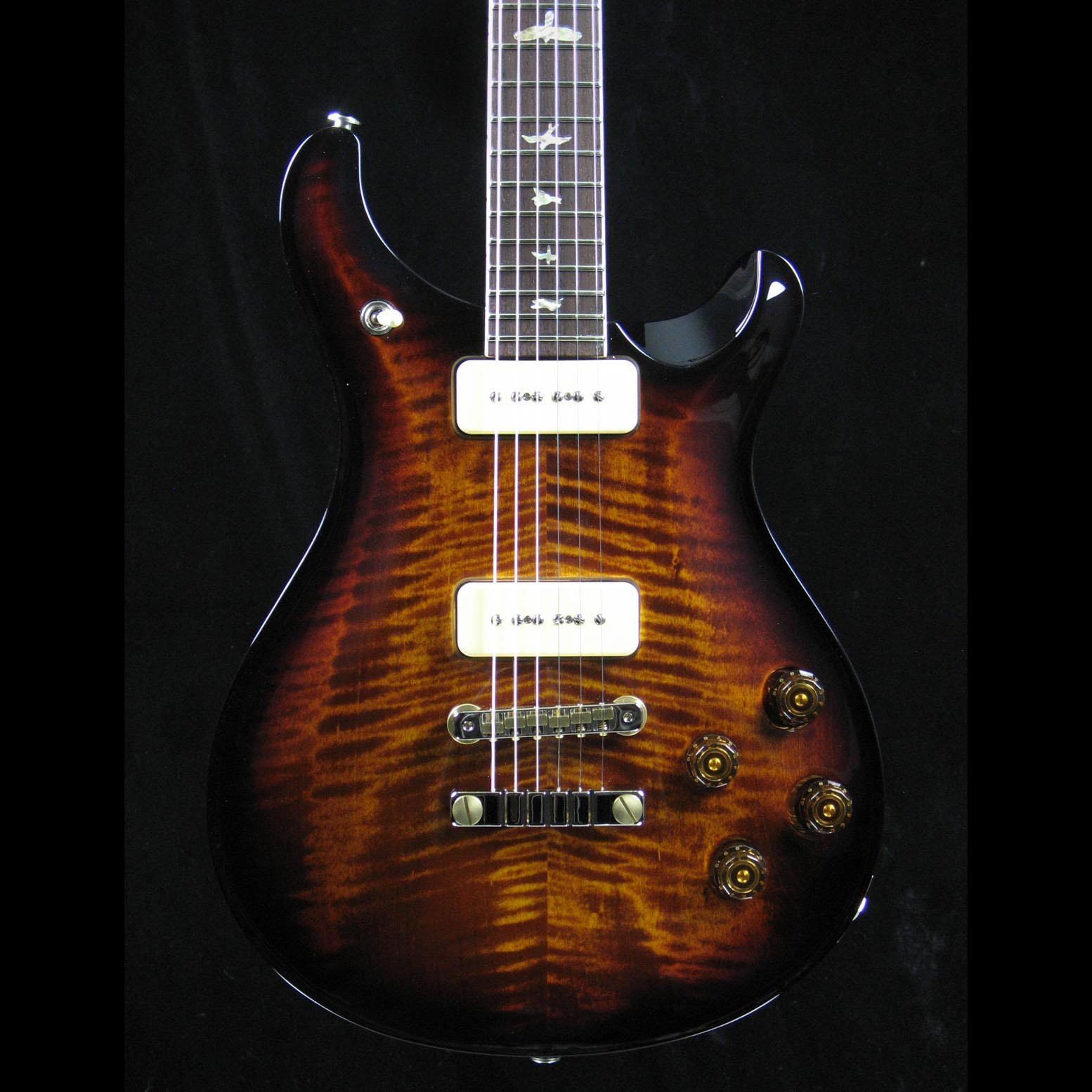 McCarty 594 Soapbar - Black Gold Wrap Burst