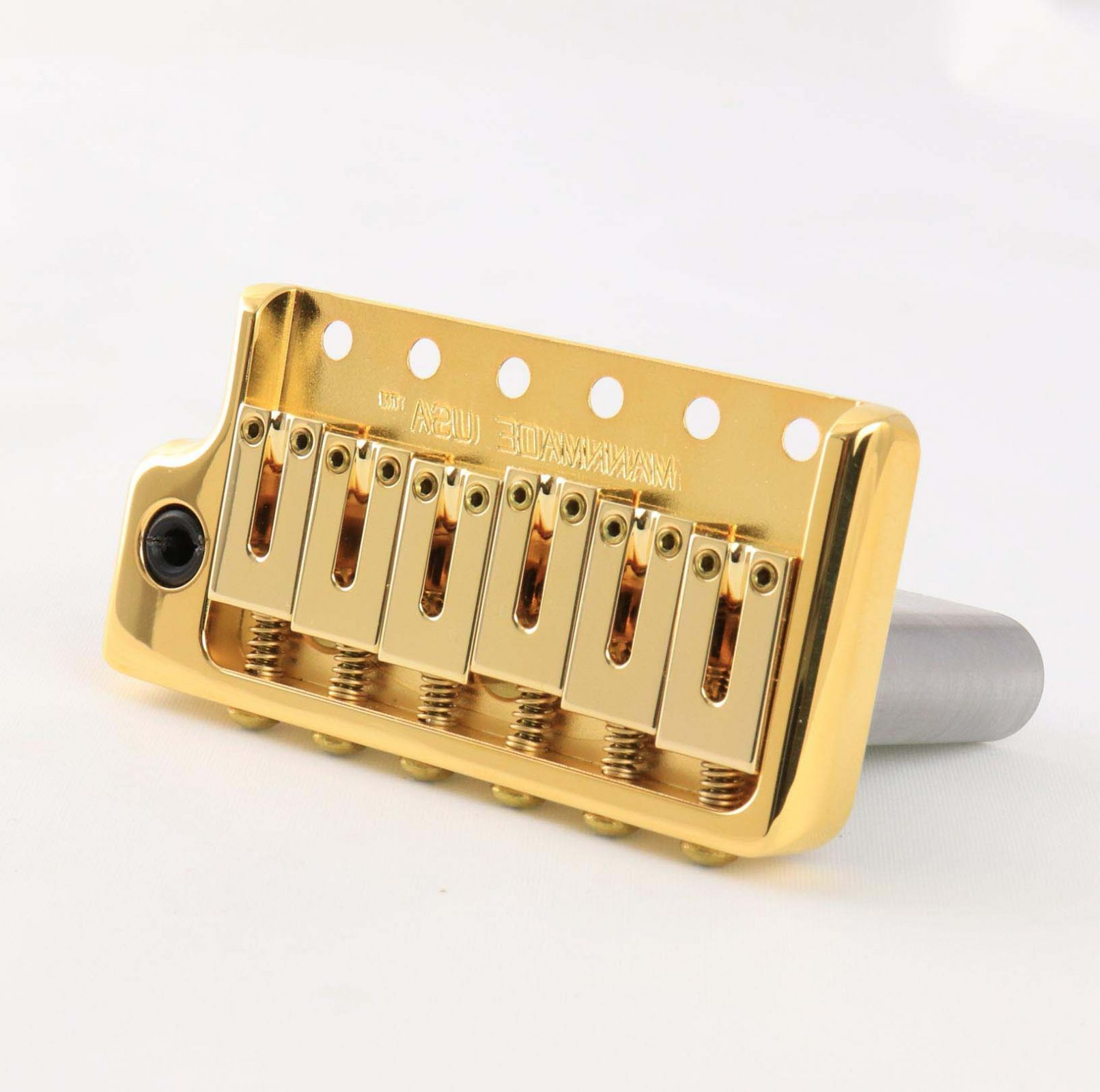 MannMade USA  ModernVibrato Bridge - Left Hand - Gold