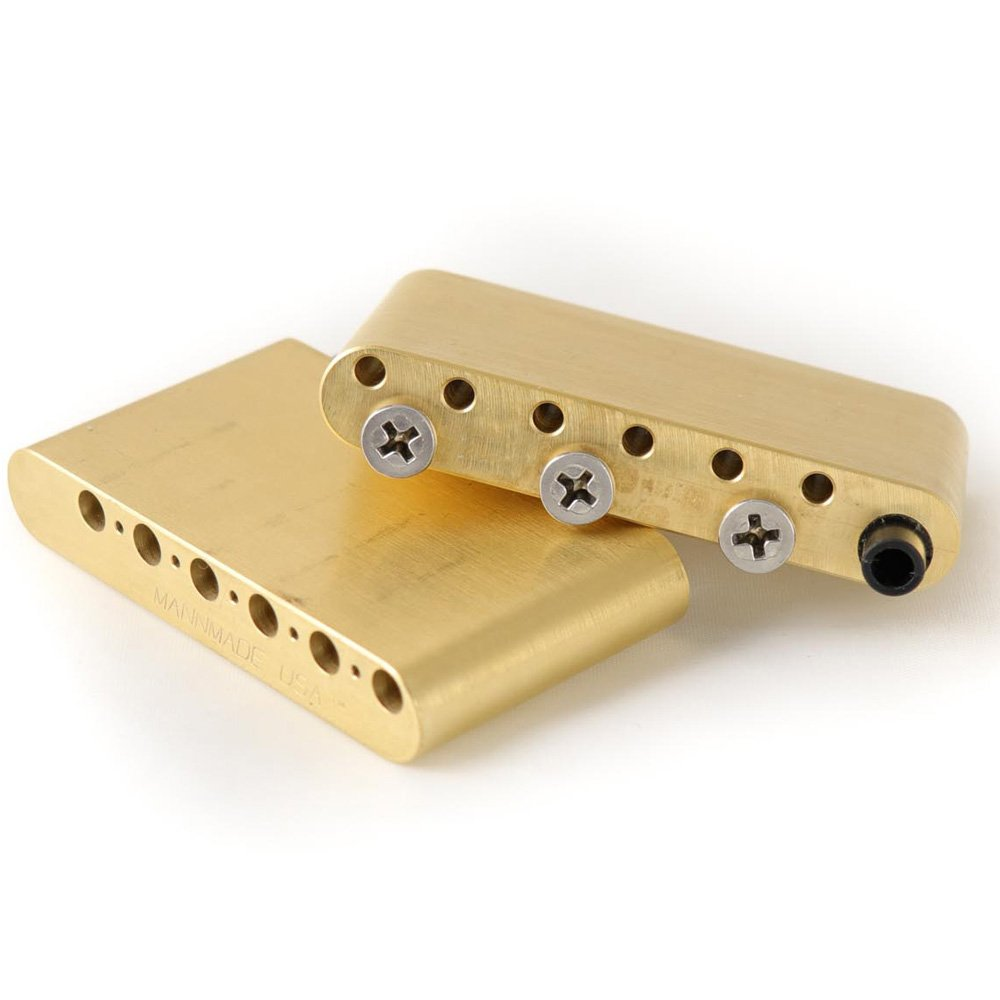 MannMade USA Block VintageVibrato Bridge - Brass