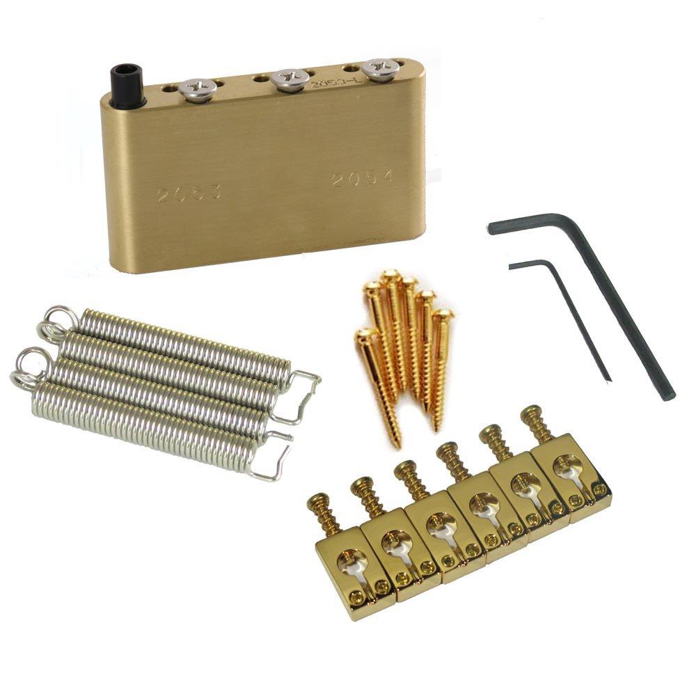 MannMade USA Upgrade Kit  - PRS CE / SE / S2  Bridges - Gold Left Hand