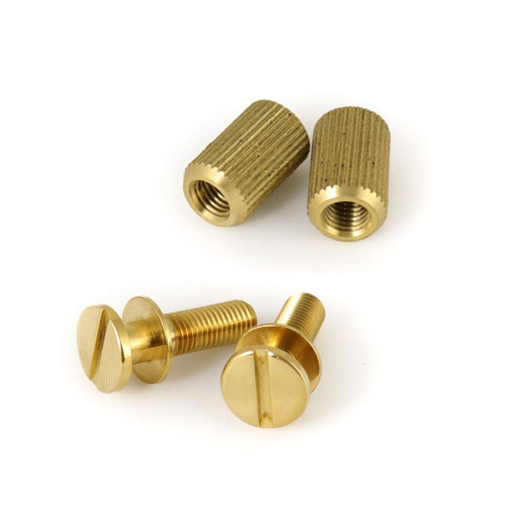 MannMade USA Stoptail Stud & Well set -  US Thread - Brass Polished