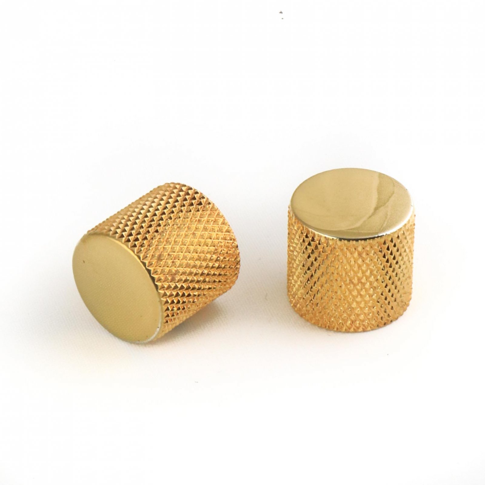 MannMade USA Knurled Flat Top Knob - Gold