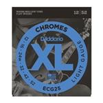 D'Addario Chromes Flat Wound Warm/Mellow Tone 12/52 Light Gauge