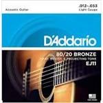 D'Addario Acoustic 80/20 Bronze Light Gauge