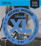 D'Addario EJ21 Jazz Light (wound 3rd) Electric Strings