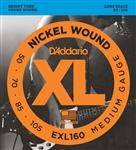 D'Addario EXL160 Long Scale Medium Bass Strings