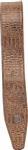 Levy's Leather Padded Guitar Strap - Alligator Pattern