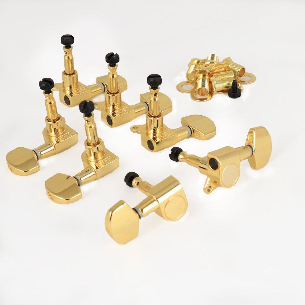 MannMade USA SE Locking Tuner Set - 7 String - Gold