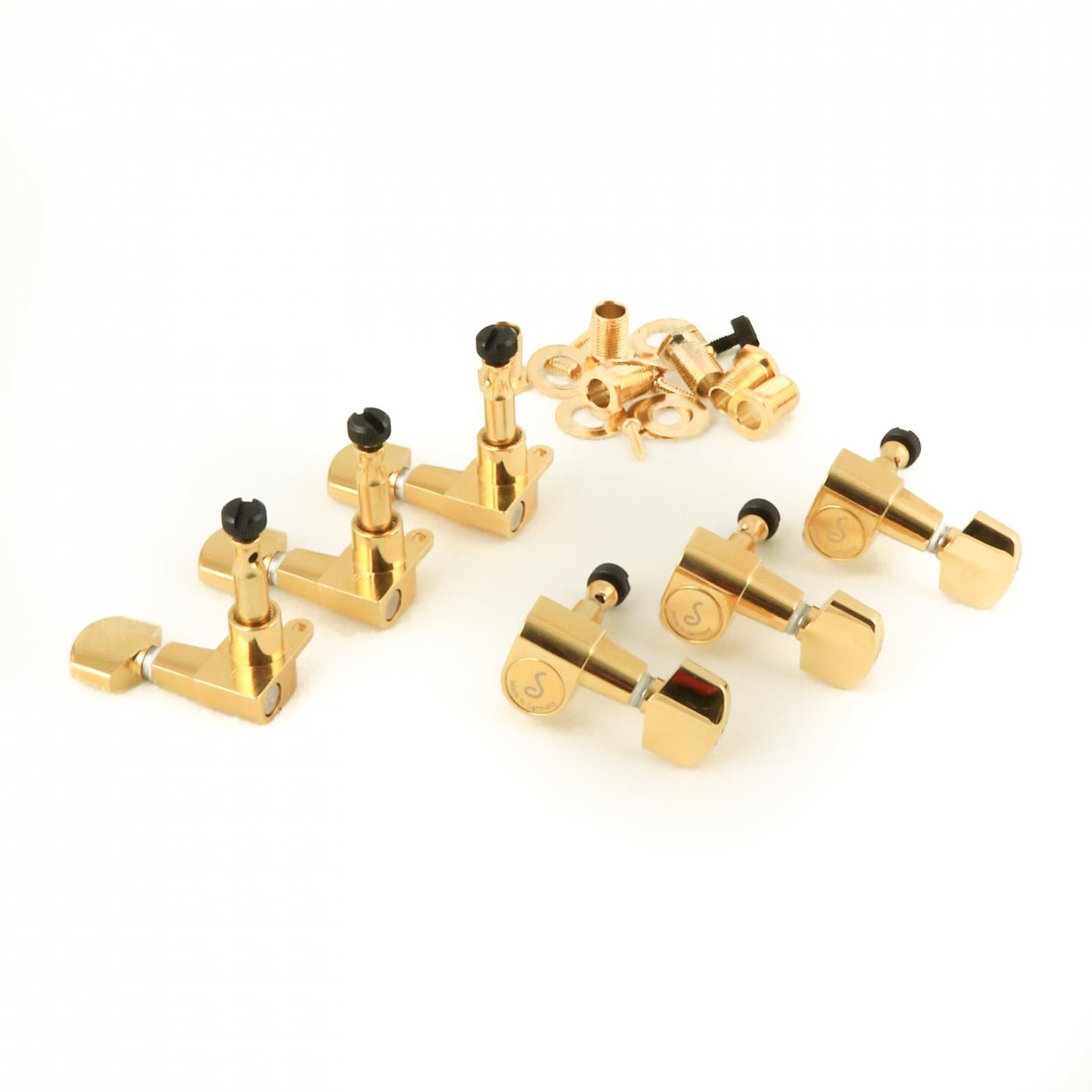 MannMade USA Schaller Low Mass Locking Tuner Set - Gold