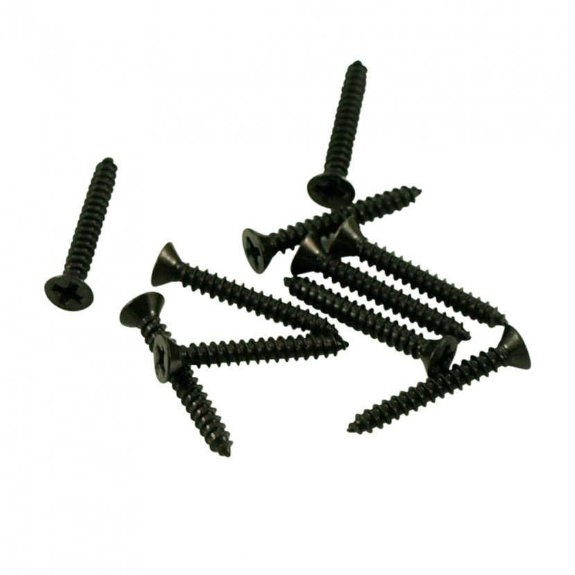 Pickup Ring Screw Set, Short - Black