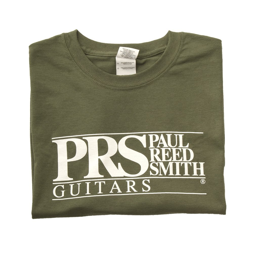 PRS Classic Block Logo Tee Military Green, Large