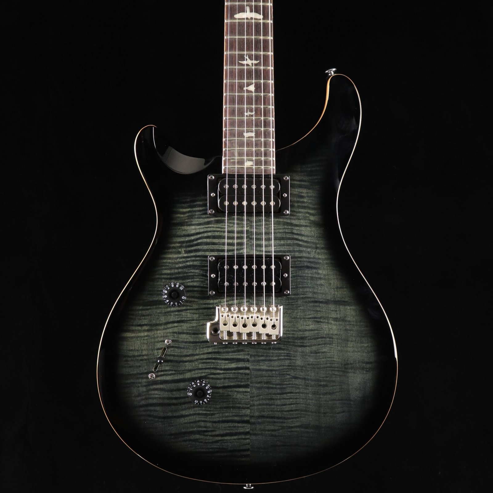 PRS SE Custom 24 Lefty - Charcoal Burst