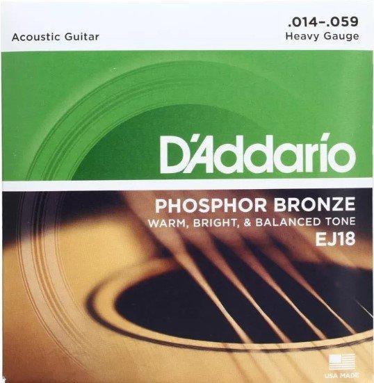 D'Addario EJ18 Phosphor Bronse Wound Acoustic Guitar Strings