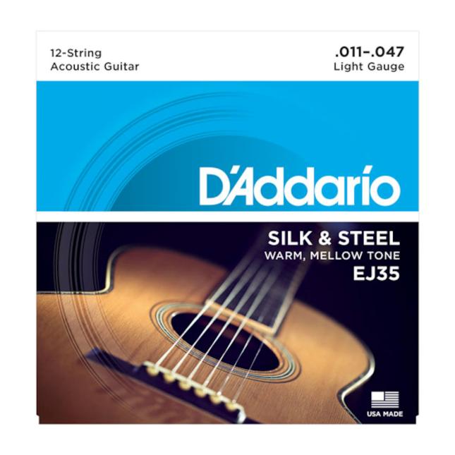 D'Addario EJ35 Silk & Steel 12-String Folk 11-47