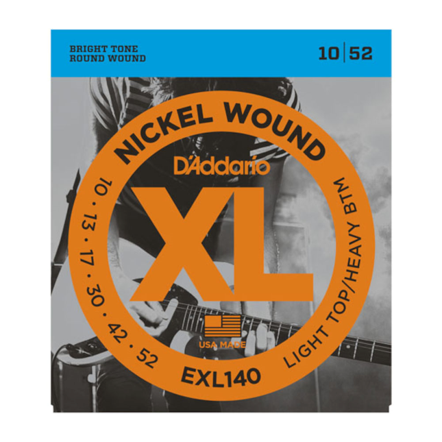 D'addario EXL140 Nickel Wound Light Top/Heavy Bottom 10-52