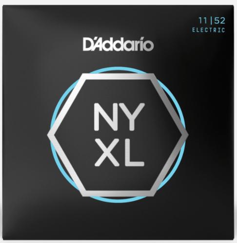 D'Addario NYXL1152 Nickel Wound Electric Guitar Strings, Medium Top / Heavy Bottom, 11-52