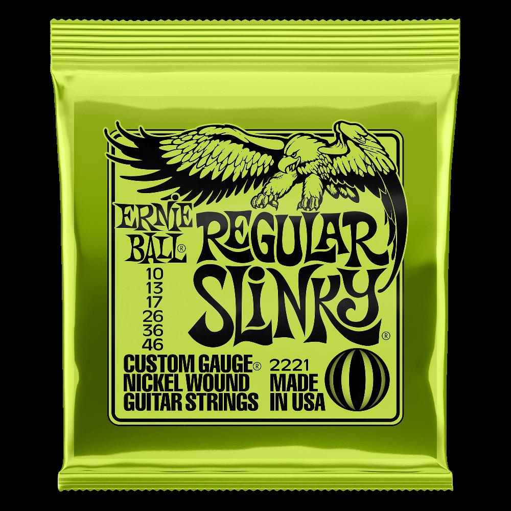 Ernie Ball Regular Slinky Nickel Wound Electric Guitar Strings - 10-46 Gauge