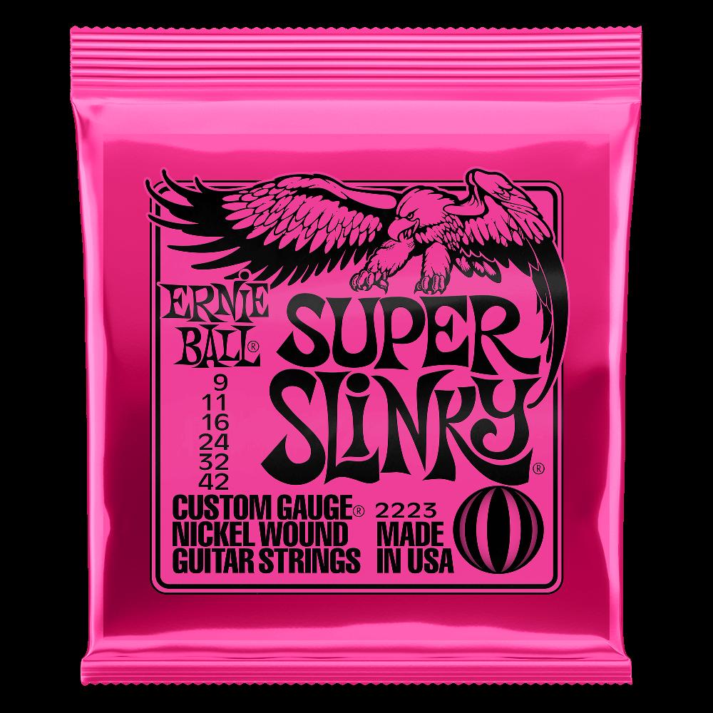 Ernie Ball Super Slinky Nickel Wound Electric Guitar Strings - 9-42 Gauge