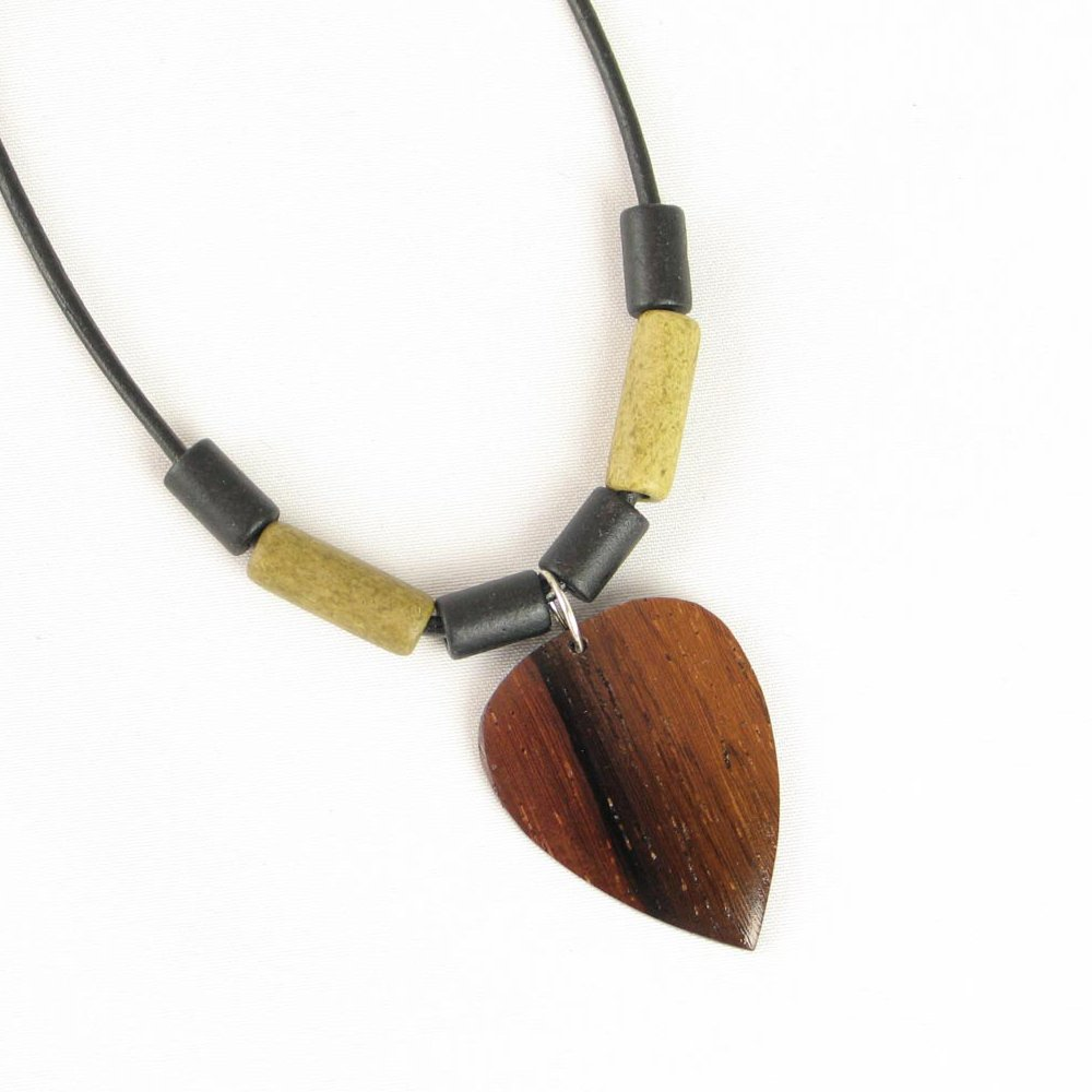 Steven Ashley Handmade Wood Guitar Pick Necklace