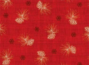 Red Rooster - Winter Celebration - Snowflakes & Pinecones