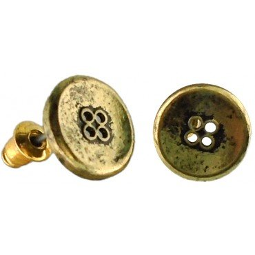 Button Earings - Gold