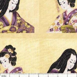 Geisha Portraits-Purple