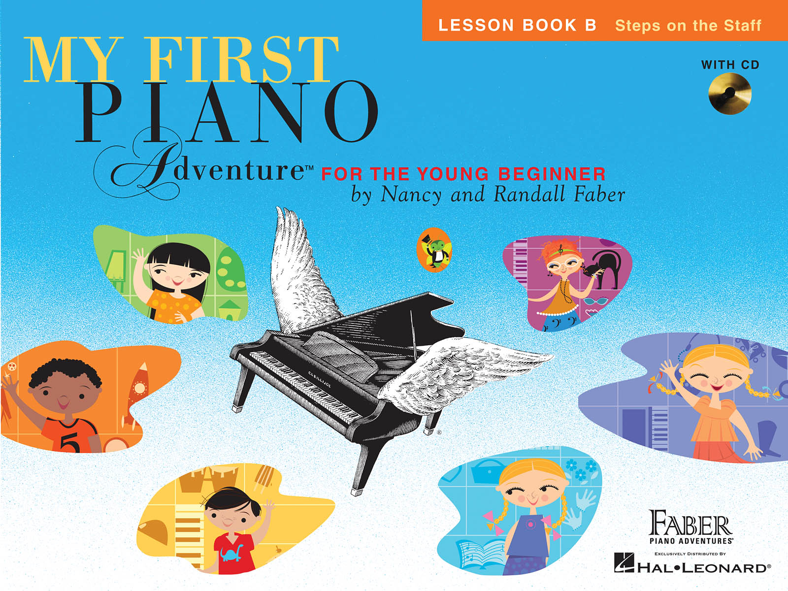 My First Piano Adventure Lesson Book B, Steps on the Staff