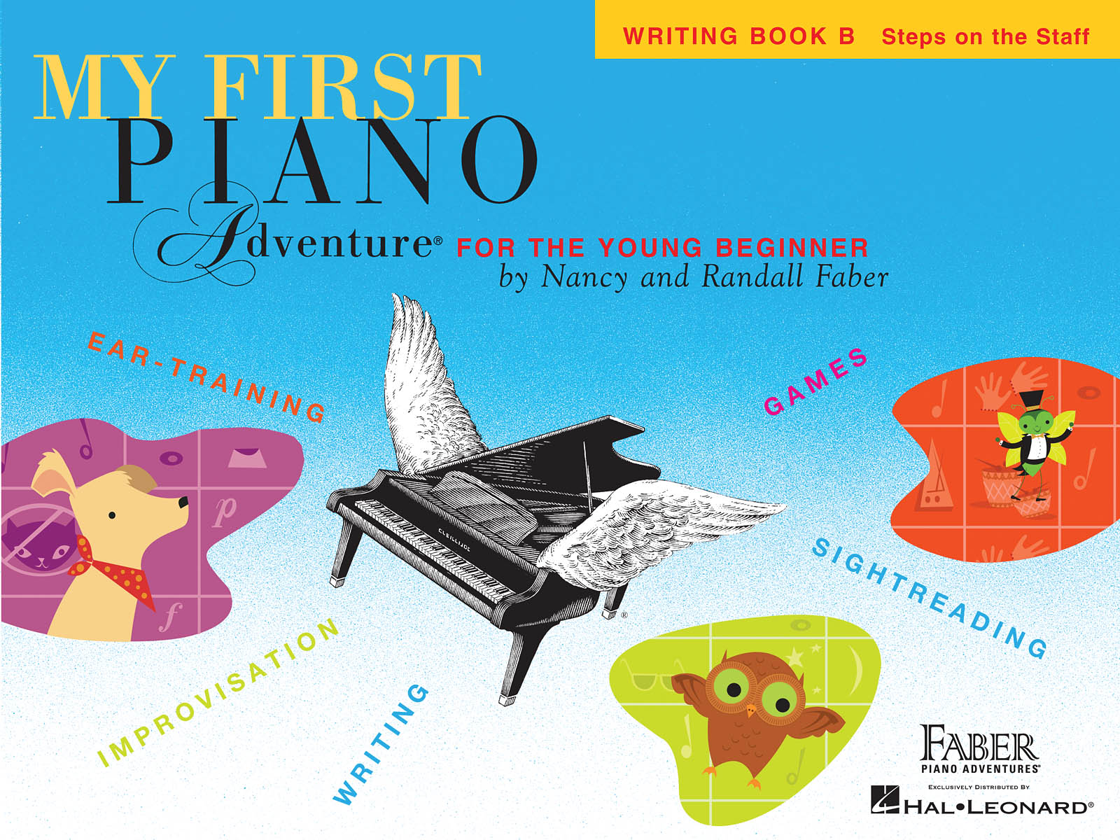 My First Piano Adventure Writing Book B, Steps on the Staff