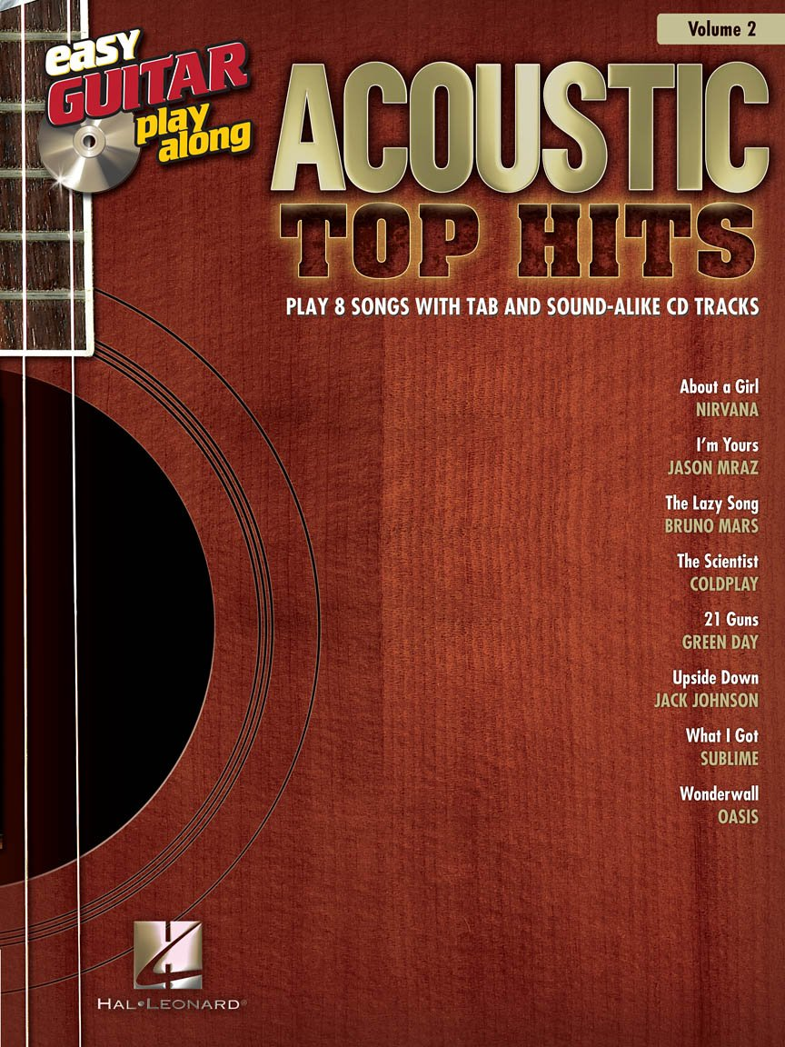 Acoustic Top Hits Easy Guitar Play-Along Volume 2