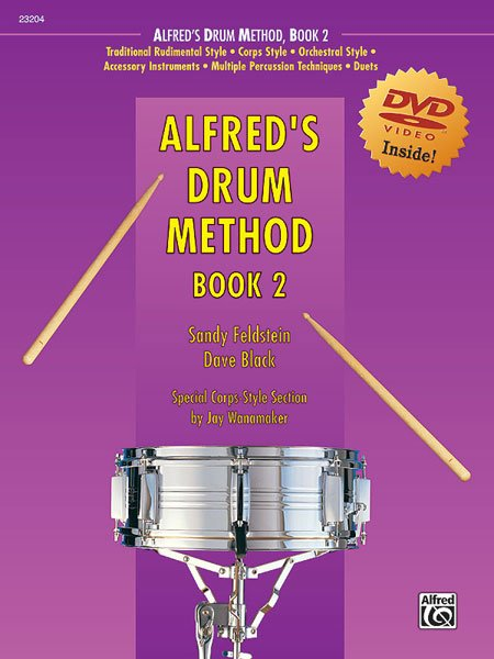 Alfred's Drum Method, Book 2 (Book & DVD)