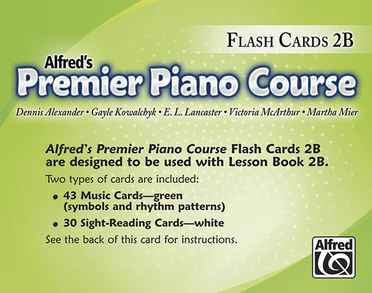 Alfred's Premier Piano Course, Flash Cards 2B