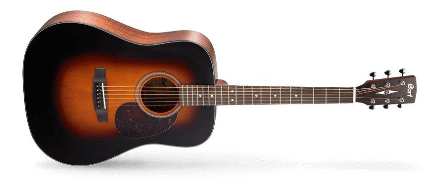 Cort Earth Series Earth300V SB Acoustic Guitar, Sunburst