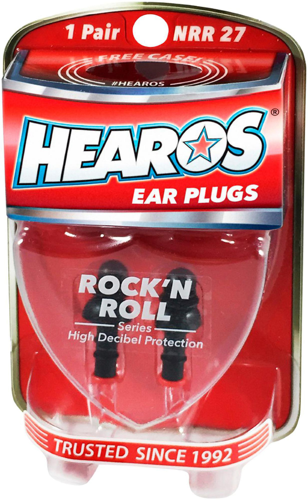 Hearos Earplugs Rock 'n Roll Series with Free Case, 1-Pair