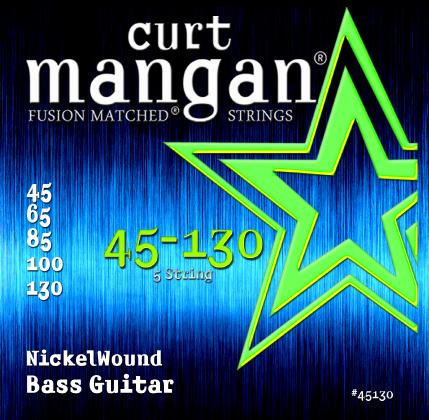 Curt Mangan Nickel Wound 45130 Bass Guitar Strings, 5-String, 45-130