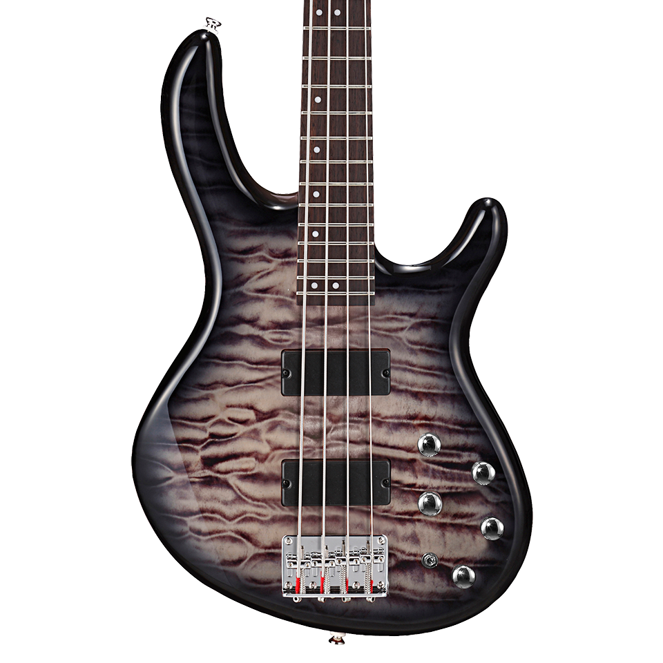 Cort Action DLX Plus Bass Guitar, Faded Grey Burst