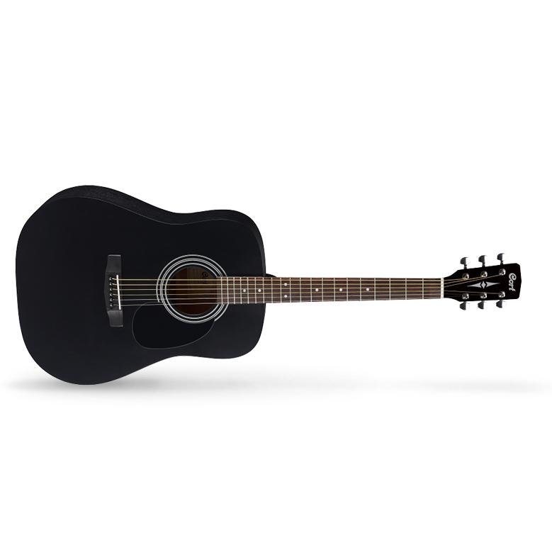 Cort Standard Series AD810 BKS Acoustic Guitar, Black Satin