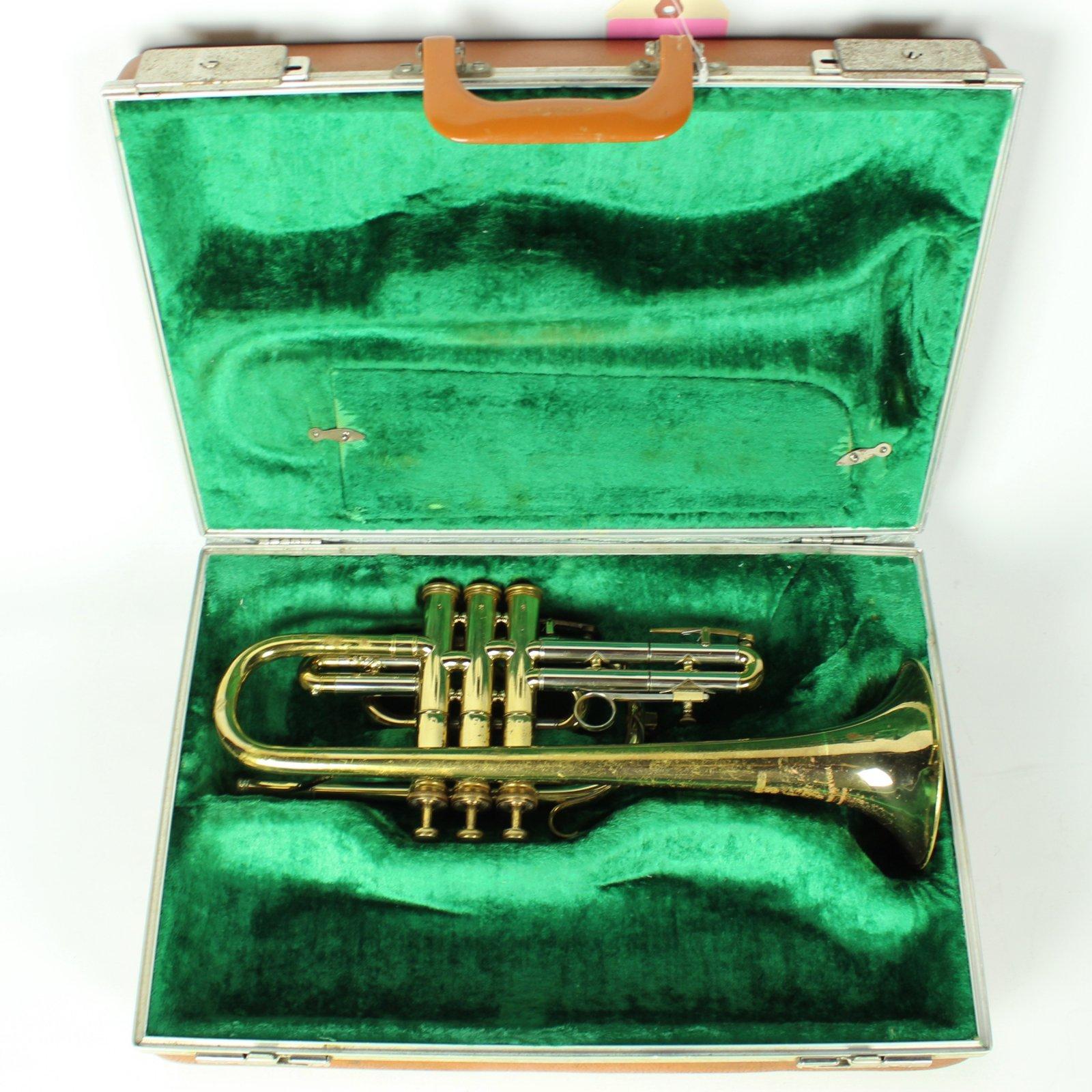 Vintage Besson 2-20 Cornet w/ Case & Vincent Bach 3C Mouthpiece (USED)