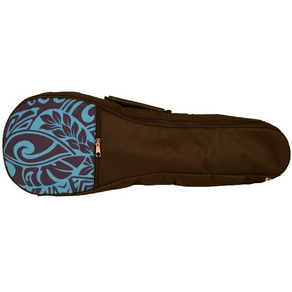 Kala UB-BL-T Padded Tenor Ukulele Bag Blue Tribal Hawaiian Accent