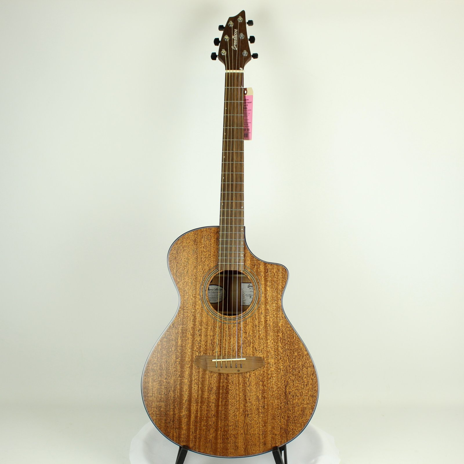 Breedlove African Mahogany Wildwood Concert Satin CE Acoustic-Electric Guitar (USED)
