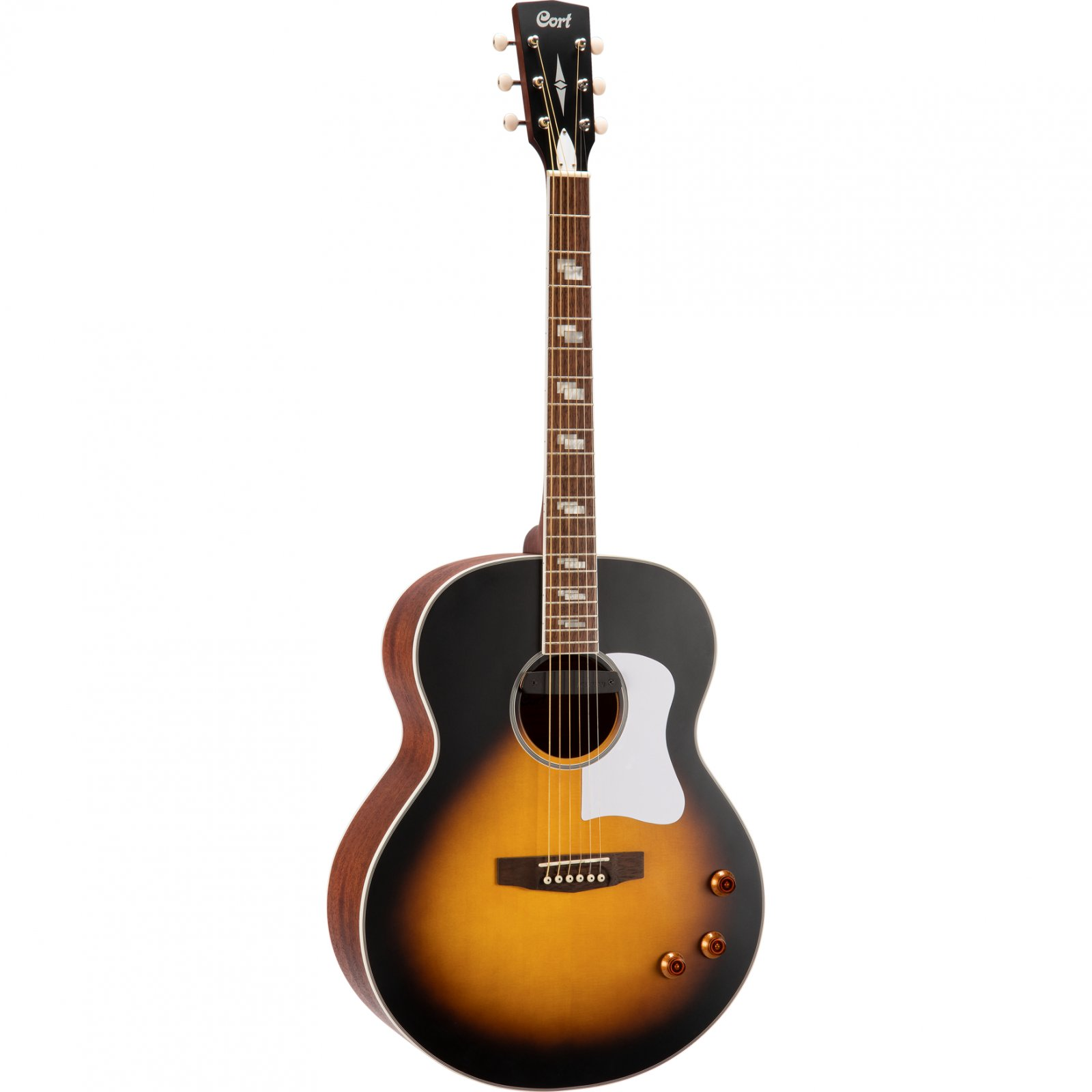 Cort CJ Retro Jumbo Acoustic-Electric Guitar, Vintage Sunburst Matte