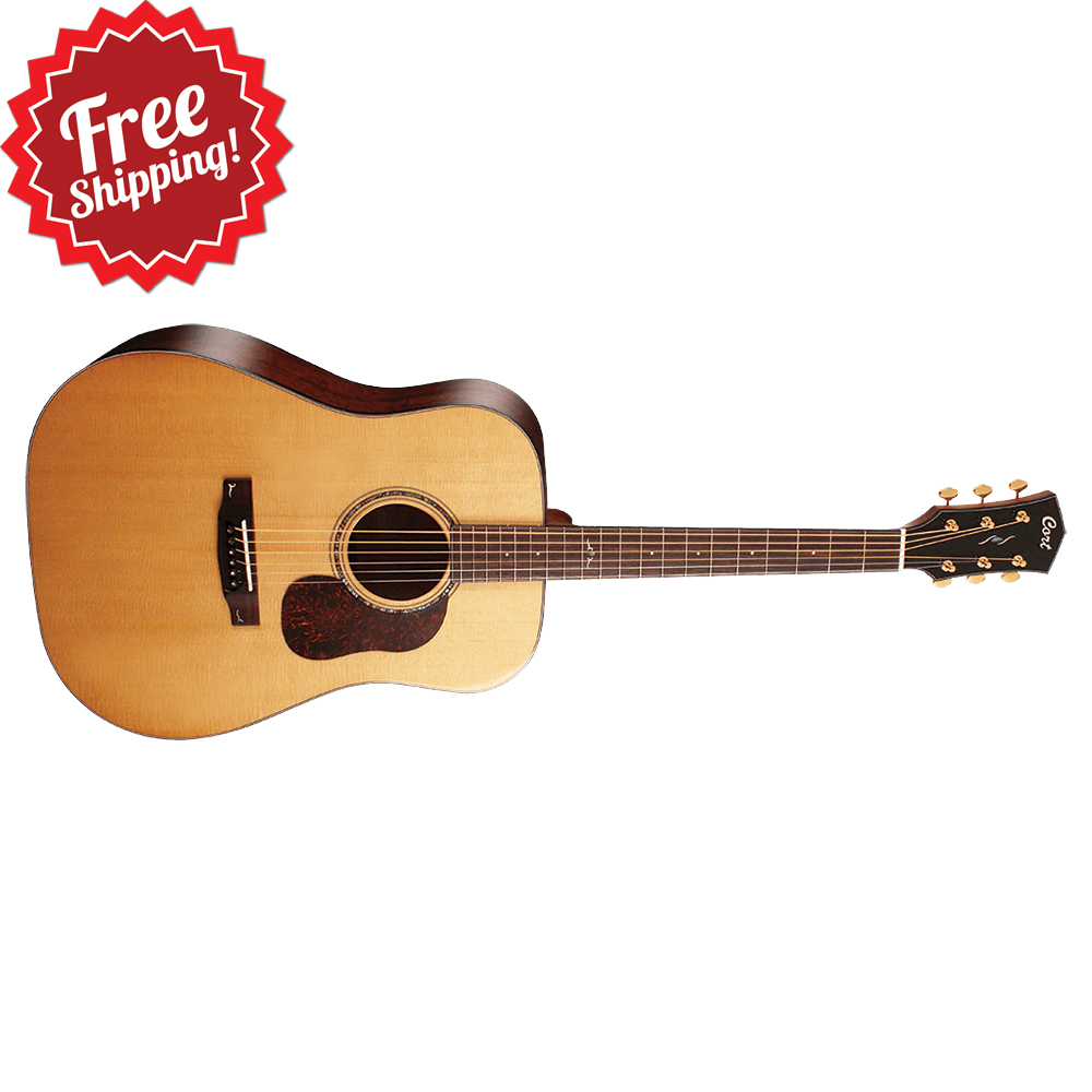 Cort Gold Series D6 NAT Dreadnought Acoustic Guitar, Natural
