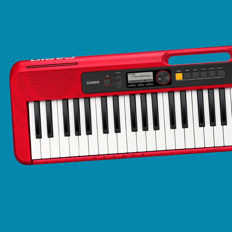Casio Casiotone CT-S200 61-Key Portable Digital Keyboard, Red