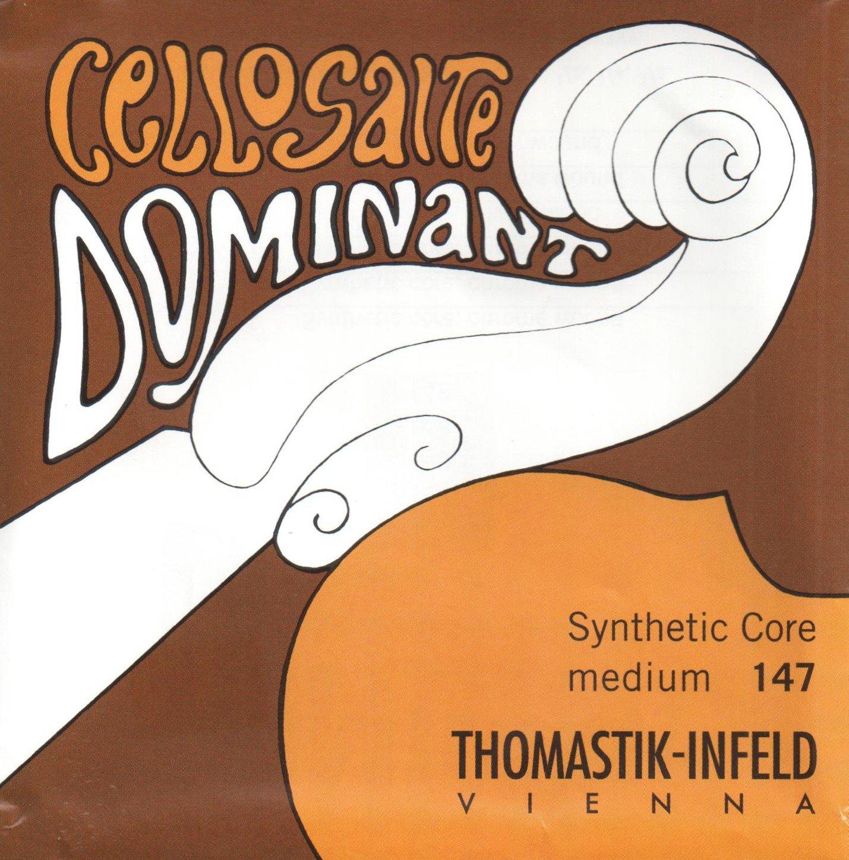 Thomastik-Infeld Dominant 147 Cello Strings, 4/4 Size, Medium, 142-145