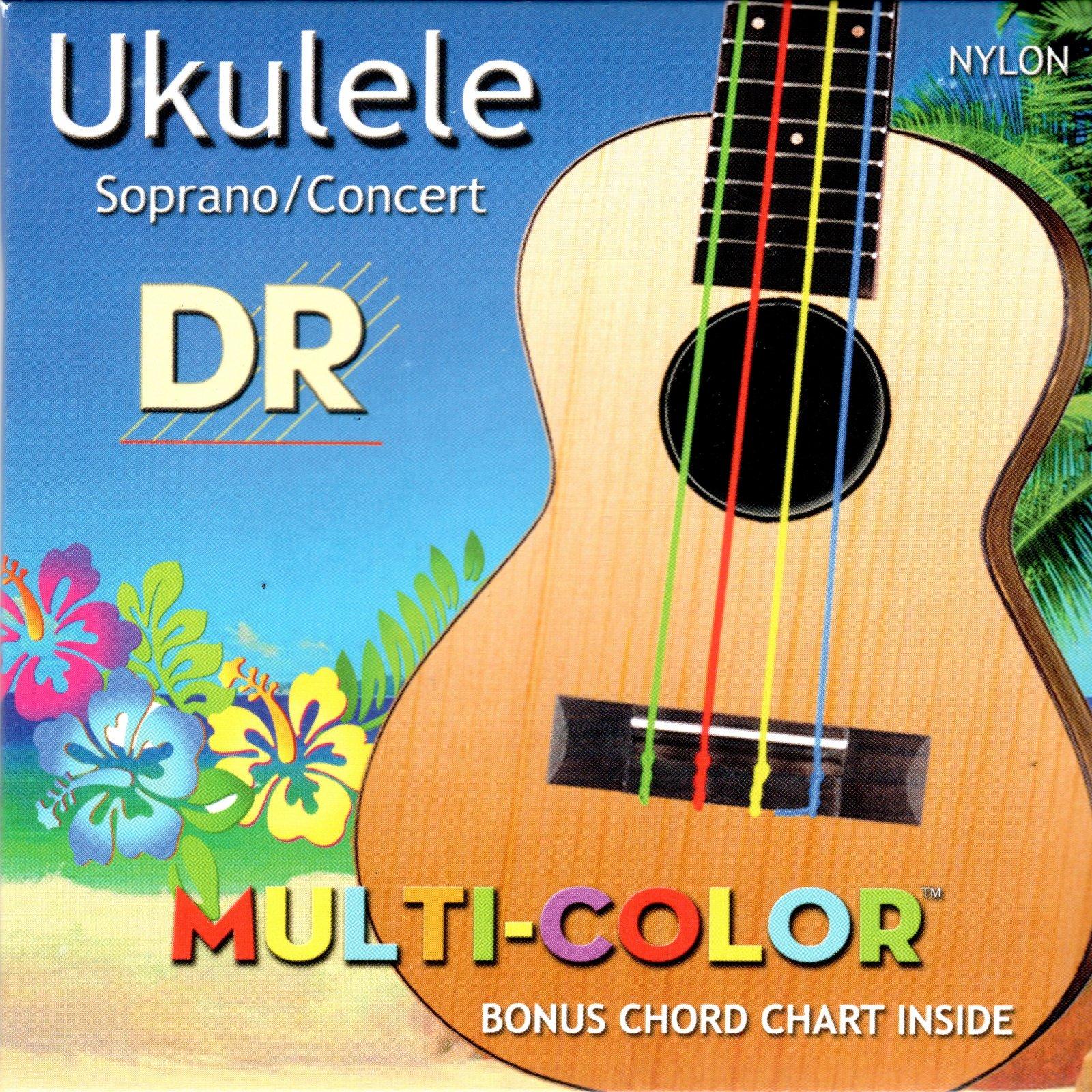 DR Strings UMCSC Multi-Color Ukulele Strings, Soprano/Concert